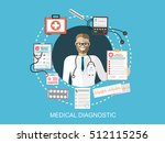 doctor showing diagnoses with... | Shutterstock .eps vector #512115256