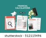 financial calculations. working ...   Shutterstock .eps vector #512115496