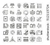 smart farm icons  smart... | Shutterstock .eps vector #512115724