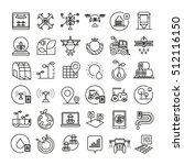 smart farm icons  smart... | Shutterstock .eps vector #512116150