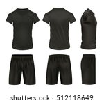 black isolated shirts and... | Shutterstock .eps vector #512118649