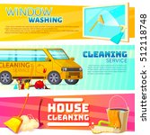 three horizontal cleaning... | Shutterstock .eps vector #512118748
