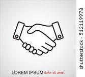 line icon    handshake | Shutterstock .eps vector #512119978