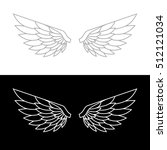 wing icon on white and black... | Shutterstock . vector #512121034