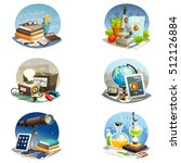 science cartoon set of... | Shutterstock .eps vector #512126884