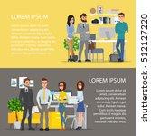 business characters scene.... | Shutterstock .eps vector #512127220