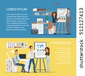 business characters scene.... | Shutterstock .eps vector #512127613