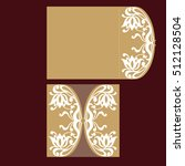 laser cut wedding invitation... | Shutterstock .eps vector #512128504