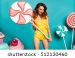 amazing cute young pretty girl...   Shutterstock . vector #512130460