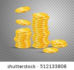 stack from gold coins. concept... | Shutterstock .eps vector #512133808