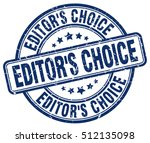 editor's choice stamp.  blue... | Shutterstock .eps vector #512135098