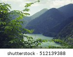 mountains abkhazia road on rizza | Shutterstock . vector #512139388