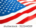 ruffled american flag  close up ... | Shutterstock . vector #512144509