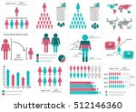 collection of infographic... | Shutterstock .eps vector #512146360