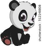 little funny bear panda | Shutterstock .eps vector #512148808