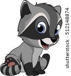 little funny raccoon | Shutterstock .eps vector #512148874