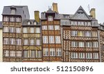 row old half timbered buildings ... | Shutterstock . vector #512150896