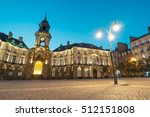 Rennes City Hall At Dusk. The...