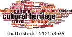 cultural heritage word cloud... | Shutterstock .eps vector #512153569