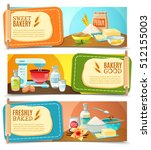three colorful horizontal...   Shutterstock .eps vector #512155003