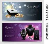 horizontal jewelry realistic... | Shutterstock .eps vector #512155180
