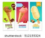 ice cream realistic vertical...   Shutterstock .eps vector #512155324