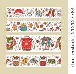 christmas banners set design.... | Shutterstock .eps vector #512157784