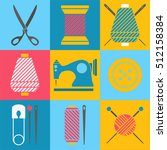 tools and materials for...   Shutterstock .eps vector #512158384