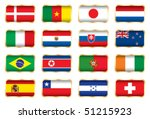 flags. 16 football world cup... | Shutterstock .eps vector #51215923