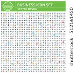 business icon set clean vector | Shutterstock .eps vector #512161420