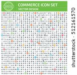 commerce icon set clean vector | Shutterstock .eps vector #512161570