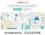 vector elegant thin line flat... | Shutterstock .eps vector #512161948