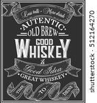 whiskey poster of alcohol with... | Shutterstock .eps vector #512164270