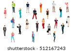 vector set of students with... | Shutterstock .eps vector #512167243