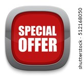 special offer button | Shutterstock .eps vector #512168050