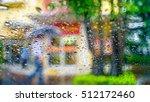 Raindrops On Glass Car  A Man...