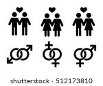 same sex couples flat icon.... | Shutterstock .eps vector #512173810