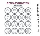 gps navigation icons. car and