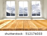 desk of free space and window... | Shutterstock . vector #512176033