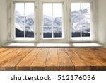 desk of free space and window... | Shutterstock . vector #512176036