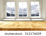 desk of free space and window... | Shutterstock . vector #512176039