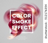 colorful smoke on isolated... | Shutterstock .eps vector #512176354