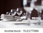 table setting in restaurant | Shutterstock . vector #512177080
