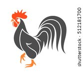 black chicken. vector... | Shutterstock .eps vector #512181700