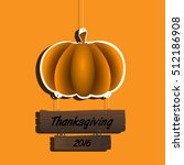 isolated traditional pumpkin... | Shutterstock .eps vector #512186908