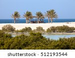 mangroves and palm trees on sir ... | Shutterstock . vector #512193544