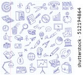 freehand drawing office items... | Shutterstock .eps vector #512194864