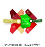 abstract infographic geometric... | Shutterstock .eps vector #512199994