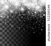 christmas snowfall. falling... | Shutterstock .eps vector #512200144