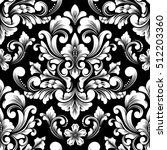 vector damask seamless pattern... | Shutterstock .eps vector #512203360